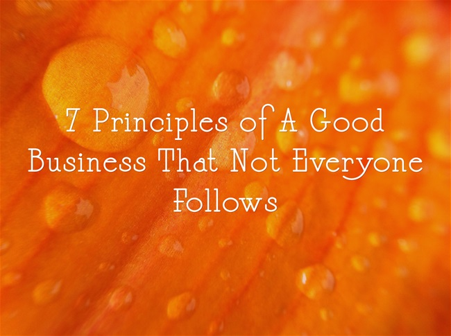 7 Principles of A Good Business That Not Everyone Follows
